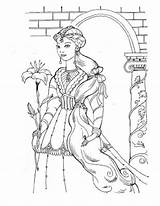 Coloring Princess Medieval Adults Printable Detailed Flowers Adult Barbie Castle Sheets Princesses Queen Coloringpages101 Age Colouring Enjoy Prinzessin Icolor Printables sketch template