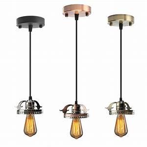 Antique industrial vintage ceiling pendant light lamp bulb