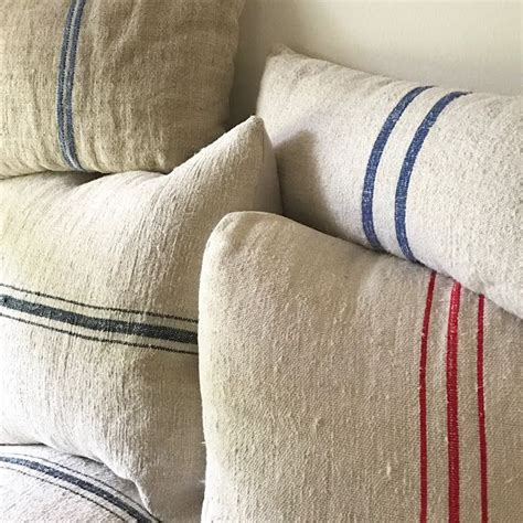 How To Make Living Room Pillows by Farmstead Diy Grain Sack Pillows And Where To Buy