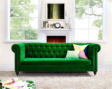 Emerald Sofa Interior Design Trend 2017