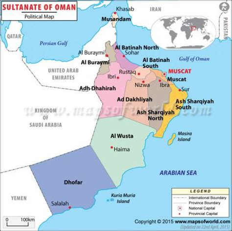 oman map holidaymapqcom