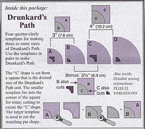 drunkards path template drunkards path template set marti michellnotions marti michel