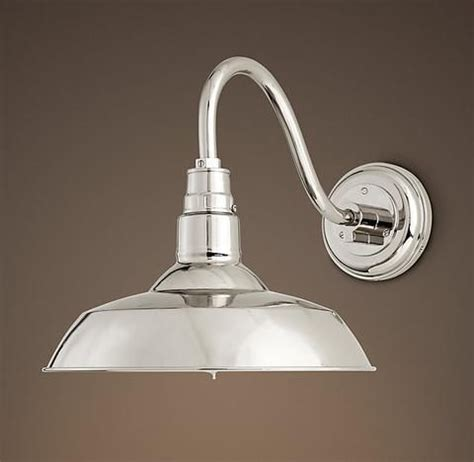 Polished Nickel Bathroom Lighting Fixtures by Vintage Barn Sconce Polished Nickel Lights Restoration