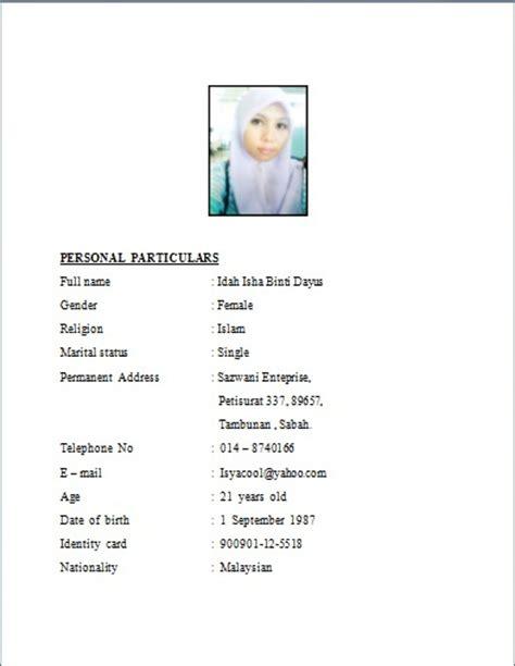 Contoh Resume Terbaik Bahasa Melayu Pdf by Contoh Resume Terbaik Newhairstylesformen2014