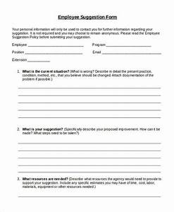 9 employee suggestion forms templates pdf word With employee suggestion box form template
