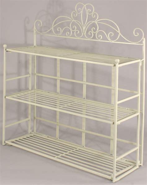 shabby chic shelving unit shabby chic cream metal wall shelf storage unit display rack bathroom kitchen ebay