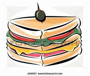 Club Sandwich Clipart (18+)