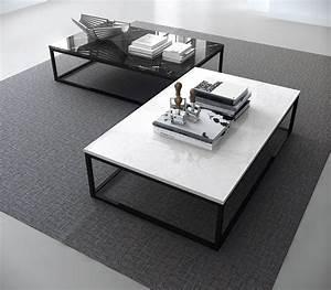 Table Marbre Noir : table basse marble pop up home marbre blanc pied noir 120 x 75 cm x h 35 cm epaisseur ~ Teatrodelosmanantiales.com Idées de Décoration
