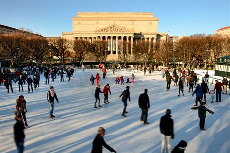 sculpture garden rink area skating rinks open for the season dc on heels
