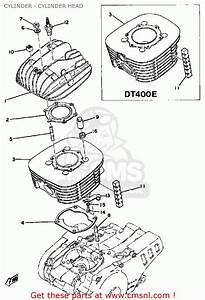 Yamaha Dt400 1978 Usa Cylinder - Cylinder Head
