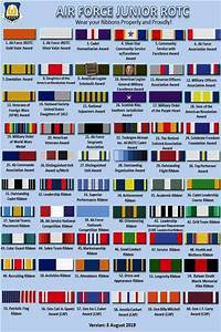 Air Force Ribbon Chart Air Force Jrotc Ribbons And Rank Chart