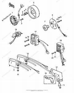 Kawasaki Motorcycle 1978 Oem Parts Diagram For Ignition