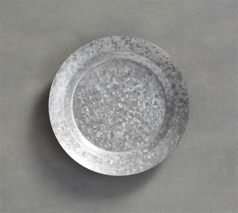 Galvanized Salad Plate, Set of 4   Pottery Barn