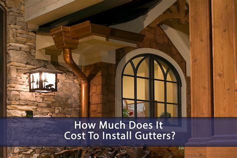 how much does it cost to install a pond how much does it cost to install gutters eagle restore houston roofing contractor