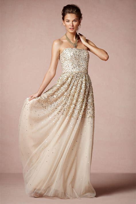 Casual Gold Wedding Dress Fashion