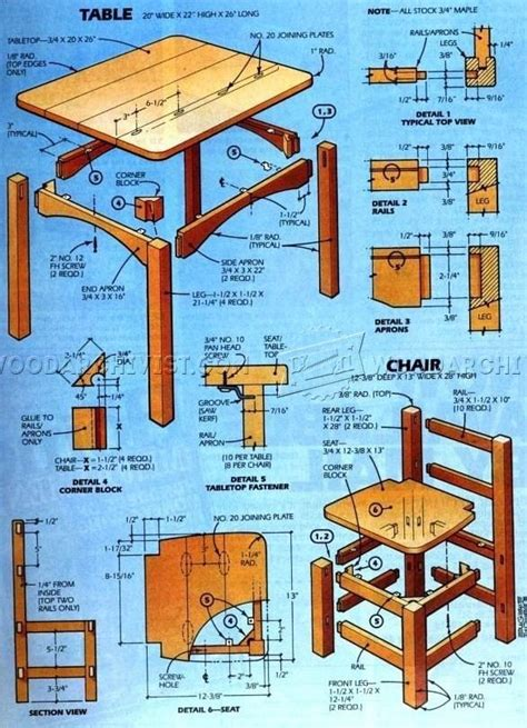 kids table  chair set plan kids table  chairs