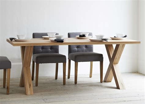 modern dining table legs long rectangle brown wooden table with crossed legs