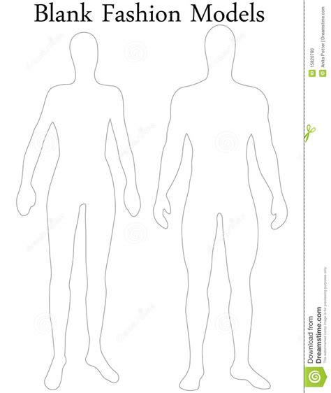 set  blank male  female fashion models stock vector