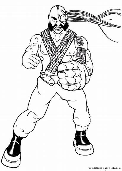 Action Coloring Pages Cartoon Character Bunch