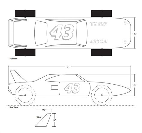Pinewood Derby Design Template by Free Pinewood Derby Templates Madinbelgrade