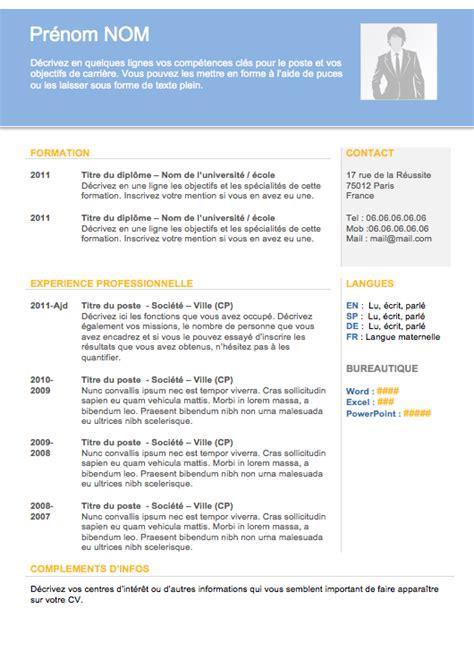Exemple De Cv En Francais Pour Etudiant by Exemple D Un Cv Pour Un Etudiant Exemple D Un Cv En