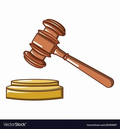 Hammer Judge Cartoon Icon Vector Wood Royalty