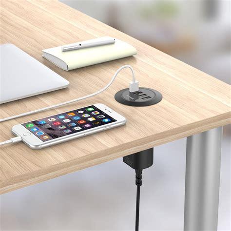 desk l with charging station simpeak