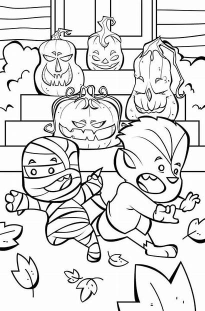 Coloring Halloween Pages Printable Funny Happy Jack