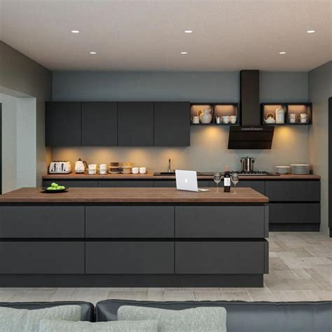 image result for modern kitchens in grey contemporary