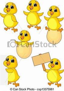 Vector of Cute baby chicken cartoon set - Vector ...