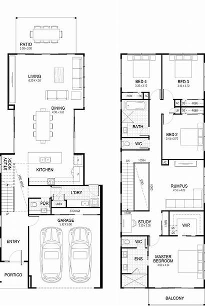 Plans Floor Narrow Story Plan Site Kitchen