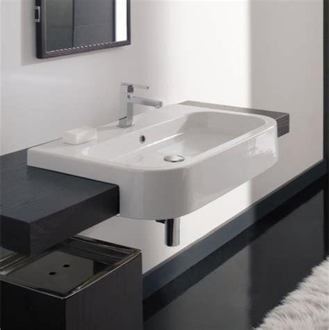 uk kitchen sinks rectangular white ceramic semi recessed sink 8047 d 80 3006