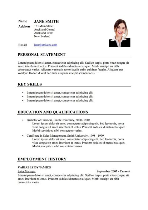 Exemple De Cv Word En Franàçais by Cv Model En Francais Degisco