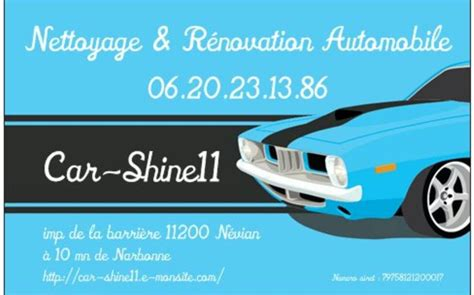 nettoyage si鑒e auto car shine11 lavage auto narbonne environs