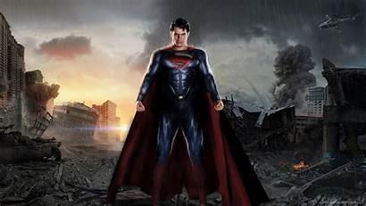 Superman Steel Between Ruins Wallpapertag