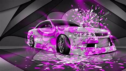 Neon Wallpapers Pink Cars Background Toyota Domo