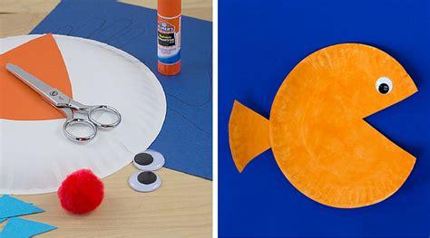 paper plate goldfish craft