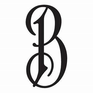 single letter monogram decal with elegant font With single letter monogram styles