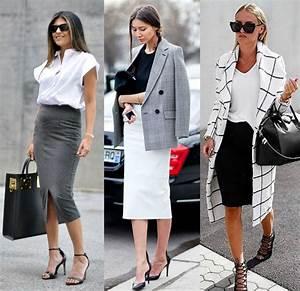 Outfits Formales Con Falda Lapiz