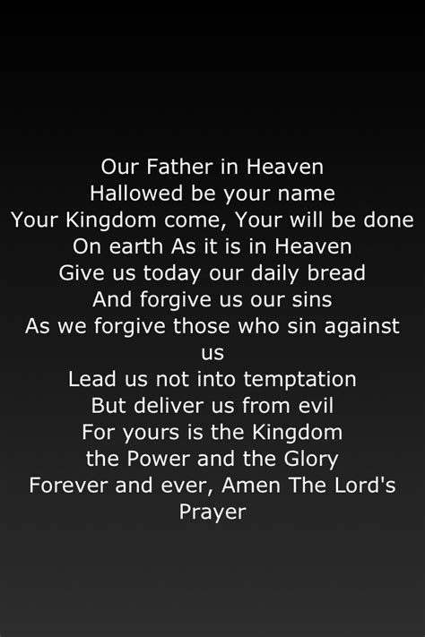 lords prayer bible quotes  quotesgram