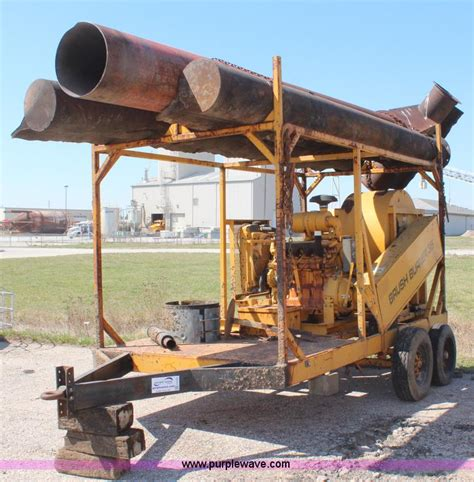 air curtain destructor burning aggregate and construction equipment auction in