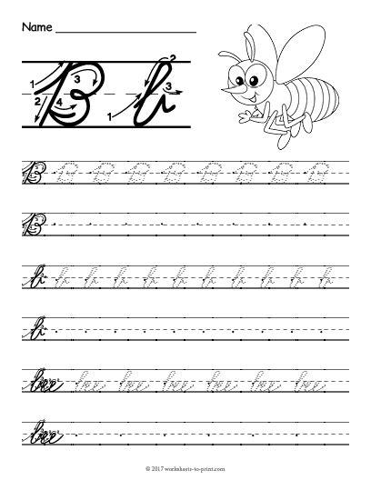 letter b cursive worksheets free printable cursive b worksheet cursive writing