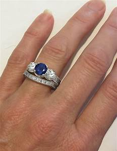 Past present future ornate engraved sapphire engagement for Sapphire engagement ring and wedding band set