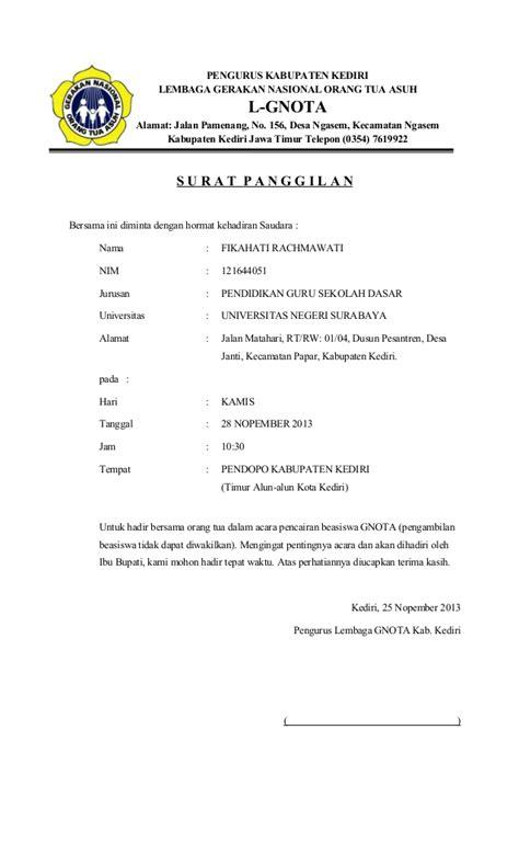 Surat Ijin Tidak Masuk Kerja by Contoh Surat Resmi Jawa Contoh Z