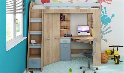 lit mezzanine armoire bureau lit surelev enfant avec rangement bureau et armoire intgr