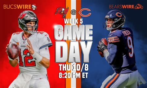 bears  bucs week  time tv schedule