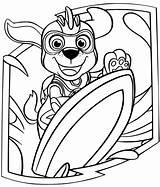 Zuma Paw Patrol Mighty Pups Coloring Pages Printable Charged sketch template