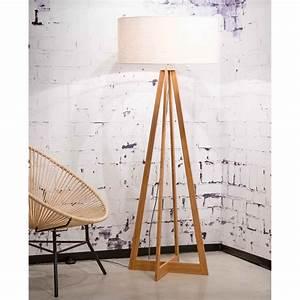 Pied Lampadaire Bois : lampadaire en bois contemporain everest chez ksl living ~ Teatrodelosmanantiales.com Idées de Décoration