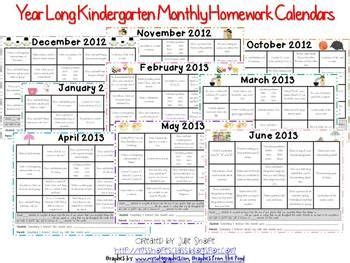 kindergarten monthly homework calendars 12 calendars 994 | 3a7423be6e83920e1d1f699536e05ce2