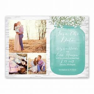 Babys Breath Save the Date Card Ann's Bridal Bargains